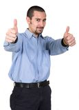 Casual guy thumbs up Royalty Free Stock Photos