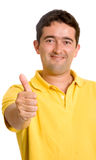Casual guy with thumbs up Stock Photos