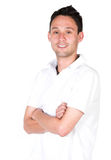 Casual guy in white Royalty Free Stock Photography