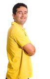 Casual guy in yellow clothes Royalty Free Stock Photography