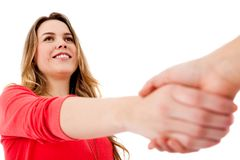 Casual handshake Royalty Free Stock Photography