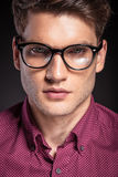 Casual handsome man wearing glasses. Stock Photo
