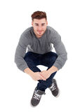 Casual handsome men sitting Royalty Free Stock Photos
