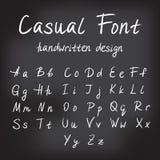 Casual handwritten font design Stock Photos