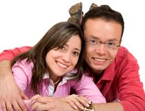 Casual happy couple Stock Photography