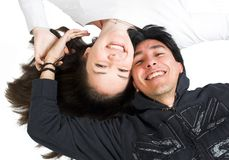 Casual happy couple Royalty Free Stock Images