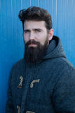 Casual hipster man with long beard Stock Photography