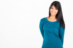 Casual Hispanic woman Royalty Free Stock Photo