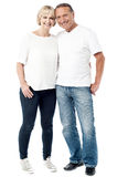 Casual image of a fashionable young couple Royalty Free Stock Images