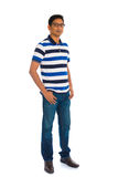 Casual india male in white background full body Royalty Free Stock Image