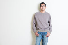 Casual Indian male portrait Royalty Free Stock Images