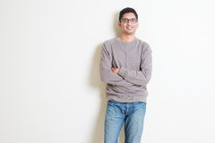 Casual Indian man portrait Royalty Free Stock Images