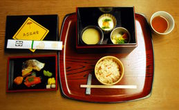 Casual kaiseki lunch Royalty Free Stock Photos