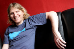 Casual and laid back. Blond man looking casual and laid back Stock Photography