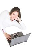 Casual laptop user Stock Photography