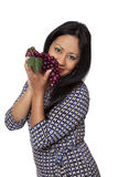 Casual Latina - grapes produce selection Stock Photography