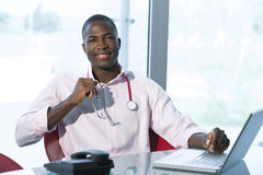 Casual male doctor Stock Images