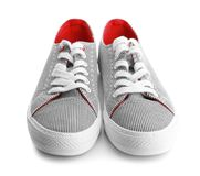 Casual male shoes. On white background Stock Photos