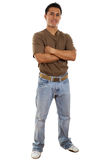 Casual Man. Stock image of confident casual man isolated on white background Royalty Free Stock Images