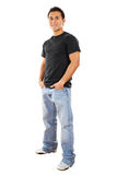 Casual man. Stock image of casual man isolated on white background, full shot Stock Photography