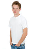 Casual Man. A handsome young man posing in the studio Royalty Free Stock Images