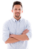 Casual man with arms crossed Stock Image