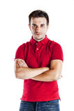 Casual man with arms crossed Stock Photography