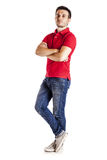 Casual man with arms crossed Royalty Free Stock Images