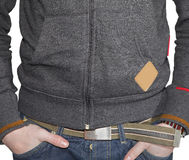 Casual man background. Closeup of the clothes of a casual man background Stock Images