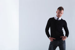 Casual man with both hands in pockets Stock Photo