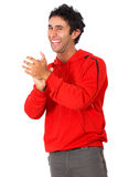 Casual man clapping Stock Images