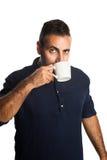 Casual man with a coffee mug Royalty Free Stock Image