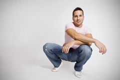 Casual man copy space. Young attractive man with lots of copy space for editors Stock Image