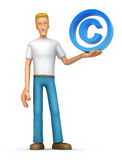 Casual man with copyright Stock Image