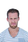 Casual man crying in front of camera Royalty Free Stock Photography
