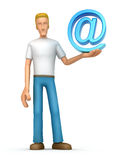Casual man with e-mail Stock Image