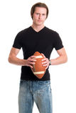 Casual Man with Football Royalty Free Stock Photo