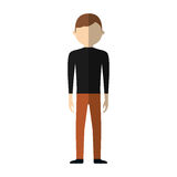 Casual man formal cloth icon Royalty Free Stock Photo