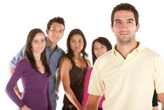Casual man with friends Stock Photos
