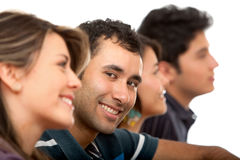 Casual man with friends Royalty Free Stock Photography