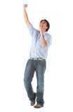 Casual man full of success Royalty Free Stock Images