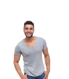 Casual man happy smile young handsome guy Royalty Free Stock Photos
