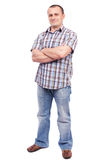 Casual man isolated on white Royalty Free Stock Photography