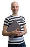 Casual man with laptop Stock Photos