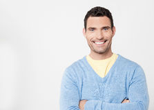 Casual man looking at camera. royalty free stock photos