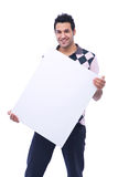 Casual man with message board Stock Photography