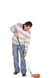 Casual Man Mopping the Floor Stock Photography