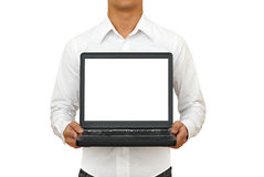 Casual man with notebook Stock Images