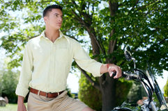 Casual man outdoors Stock Photos