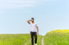 Casual man outdoors Stock Photography
